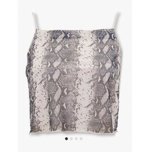 Forever 21 Snake Print Cropped Cami
